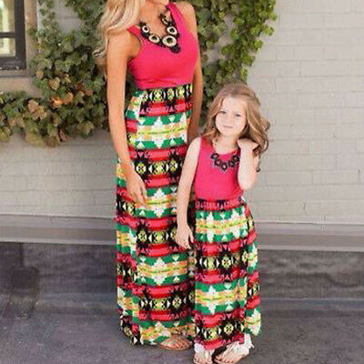 Baby Toddler Girl Kids Sleeveless Maxi Dress Casual Women Long Cocktail Dresses