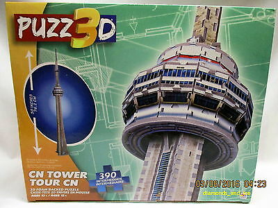 CN Tower Toronto, 3-D Foam Backed Puzzle, ages 12+, New in Box