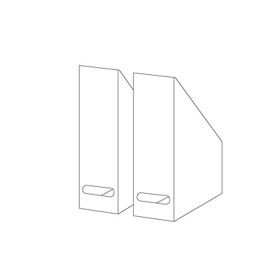 New IKEA KVISSLE Magazine file set of 2, white 202.039.59