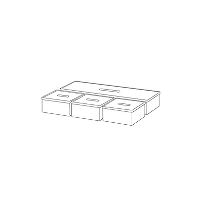 New IKEA KVISSLE Box with lid, set of 4, cork, white 201.980.19
