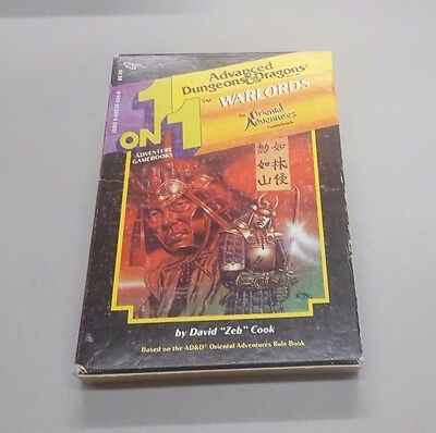 TSR 1 on 1 ADVENTURE GAME BOOKS AD&D WARLORDS