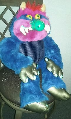 My Pet Monster ; Vintage 1986 Amtoy ; Clean Condition ; Creature Plush Stuffed