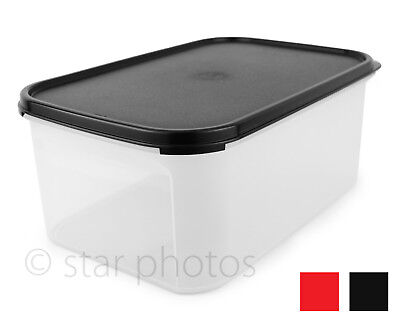Tupperware Modular Mates 18 Cup Rectangle #2 Container Black or Red Seal - New!