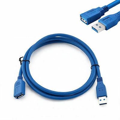 USB 3.0 Type A Male to Female 10FT/5FT 3m/1.5m Extension Data Sync Cord Cable KY