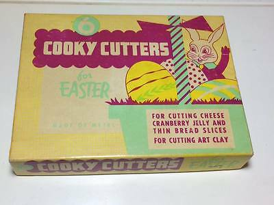 Vintage set of 6 Cooky Metal Cutters for Easter