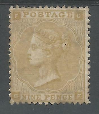 SG87 THE 1862-4 QV 9d STRAW (GF) MINT CAT £4000