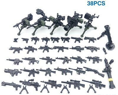 Toy Guns - Compatible with Lego Minifigs - Modern Army Weapons - Military Bulk
