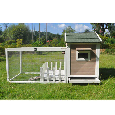 Large Wooden Chicken Coop Rabbit Hutch with run and Patio