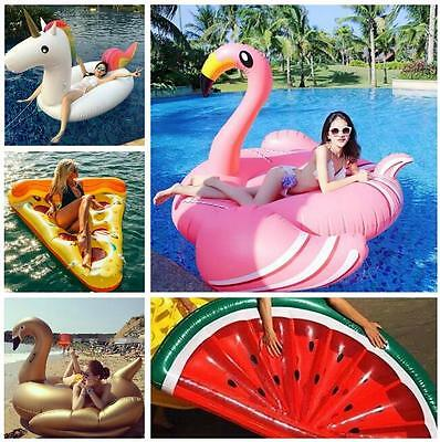 2017 Summer Swimming Pool Inflatable Swim Ring Giant Rideable Flamingo Float FuN