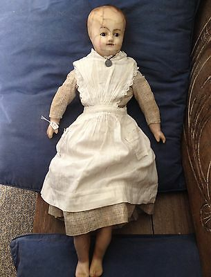 Large Antique Wax Doll. Queen Victoria  1800s
