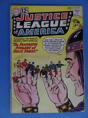 Justice League America 10 1962 Classic Cover 1St Felix Faust! Nice!!