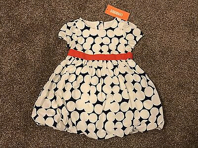 NEW Gymboree Baby Girl Dress 2-Piece White Blue Red Ribbon 12 - 18 Months NWT