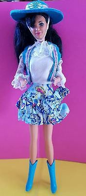 poupee barbie  doll western fun cow boy nia