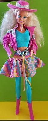 poupee barbie  doll western fun cow boy