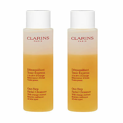 2 x Clarins One-Step Facial Cleanser 200ml Skincare Face Wash Moisturizing