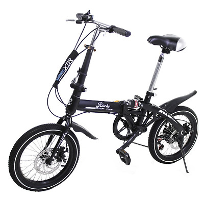 Bicicleta Plegable Bep-32 Super Bike Color Negro