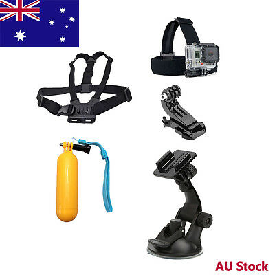 5 in 1 Accessory Kits Head Chest Strap Suction Cup Mount  f GoPro Hero 6 5S 5 4S