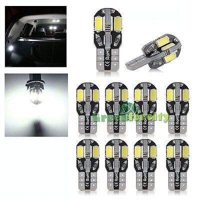 10x w5w 12V 8 SMD LED CANBUS Weiß hell KFZ PKW Innenraum Beleuchtung Lampe