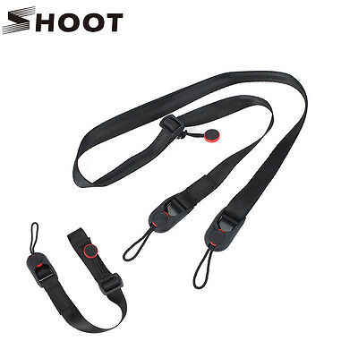 SHOOT Quick Release Camera Cuff Wrist Strap+Leash Shoulder Strap Sling ABS Buckl
