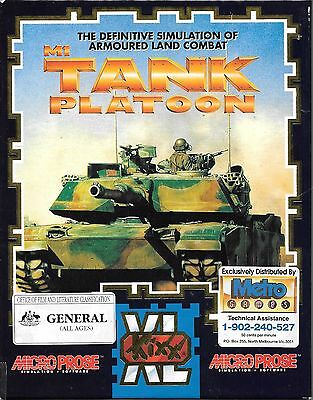 Retro game PC CD M1 Tank Platoon combat simulation army game complete big box