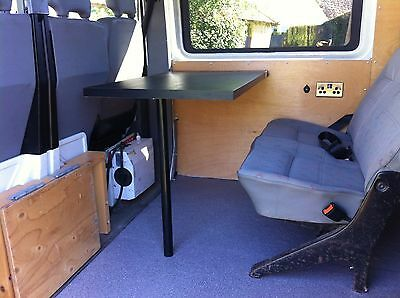 Camper Van Table Leg and Table Wall Rail Mount Complete Set.