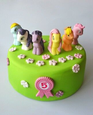 MY LITTLE PONY cake toppers edible sweet personalised birthday unofficial