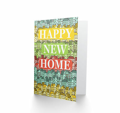 Happy New Home Illustration Blank Greeting Card CP3318