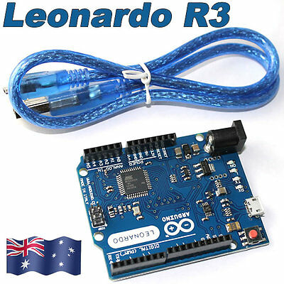 2017 Arduino-Compatible Leonardo R3 ATMega32U2 Development Board+USB Cable OZ