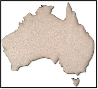 Map Of Australia - Wooden Cut-out - 410x310mm