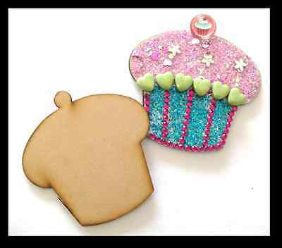 Cupcakes x 10 - Mdf Laser Precision Cut Outs
