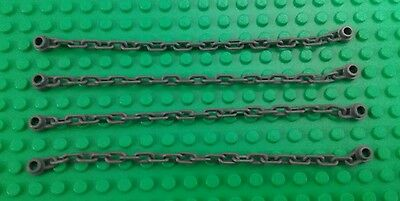 *NEW* Lego Dark Grey Chains 1x16 Stud Castle Kingdom Rope Bridges - 4 pieces