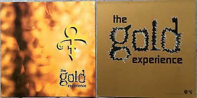 """Prince (The Symbol) The Gold Experience '95 RARE promo 12"""" X 12"""" poster flat"""