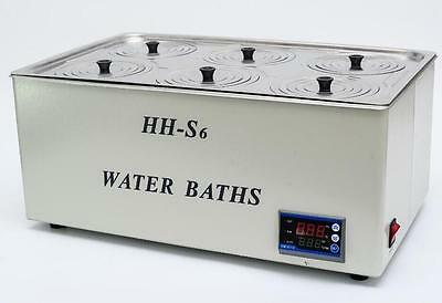 1500W Digital Thermostatic Water Bath 6 Hole 500*300*150mm HH-S6 Fast Shipping e