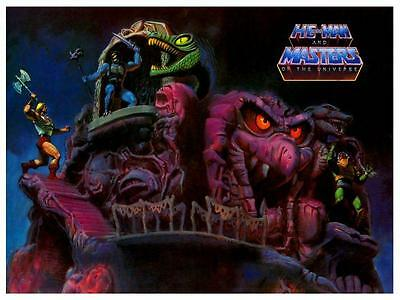 He-Man *LARGE POSTER* Snake Mountain Print  - Masters of the Universe He Man