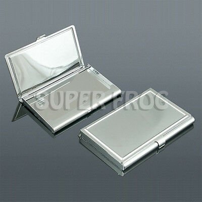 Stainless Steel Business ID Credit Card Wallet Holder Metal Pocket Case Name Box
