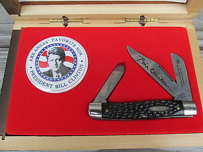 Vintage Bill Clinton Knife Limited Edition Numbered 105 Arkansas Favorite Son