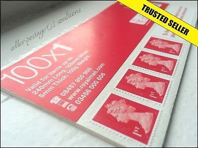 1ST CLASS STAMPS 100 NEW Genuine *SAVE* Self-Adhesive First Postage GREAT VALUE