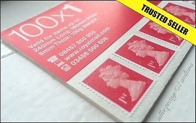 1st Class Stamps 100 NEW GENUINE Save Self Adhesive First Stamp Postage Sheet UK