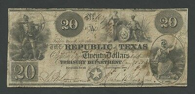 UNITED STATES - TEXAS - $20  1840  P27  ( World Paper Money )