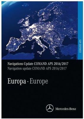 2017 Mercedes NTG2 DVD Europe v.18 and v.12 Comand APS road nav map update disc