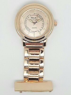 nurse beauticians fob watch rose gold F108