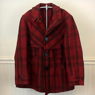 JC Penney Co. Strictly Keep Dry Vintage 30s Large Wool Plaid Hunting Coat