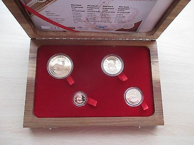 2015 South Africa 'Battle of Britain' Gold Proof Krugerrand 4 coin set case/cert