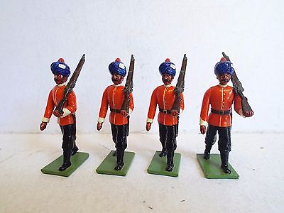 Greenwood & Ball Ltd Indian Infantry Soldiers X4 At Arms Unboxed Gloss (Bs1806)
