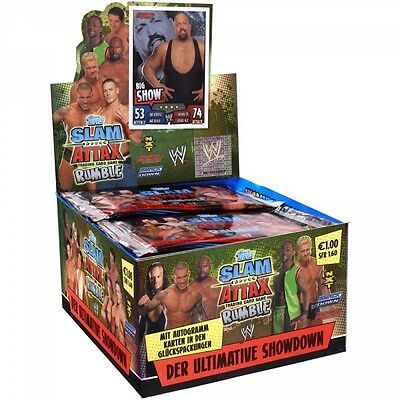 Slam Attax Rumble Display - 50 Booster - 5 Trading Cars pro Tüte von Topps