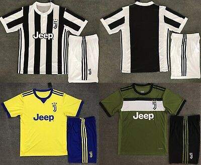Top Quality Juventus Home Away Soccer Jersey Set  Kids Youths 3 colors selected