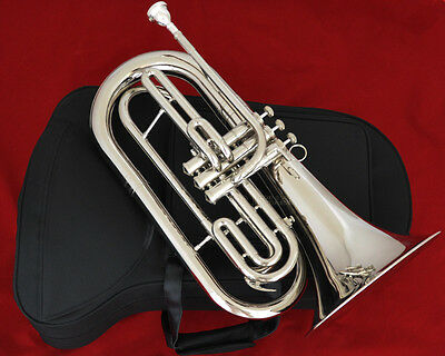 Professional Silver nickel JINBAO Marching Baritone Bb horn Monel Valve New Case
