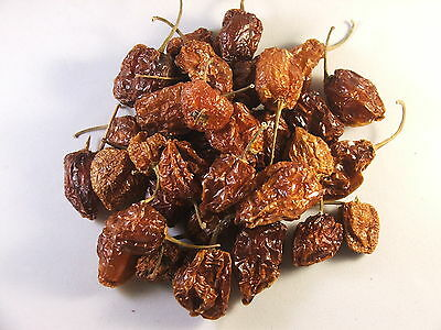 Mexican Whole Dried HABANERO Chillies 30g VERY HOT!