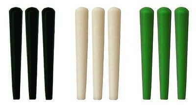 NEW Set of 9 Plastic Cribbage Pegs  - Standard Size in Black - White - Green