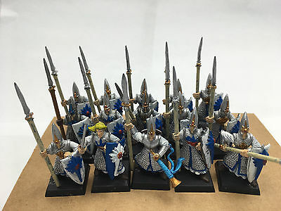 Warhammer fantasy High Elf Spearmen x 15 painted and magnetized